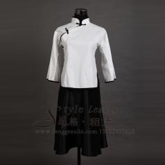出租白色女士演出服装 租赁年代表演服装