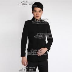 出租黑色年代表演服装 租赁男士演出服装