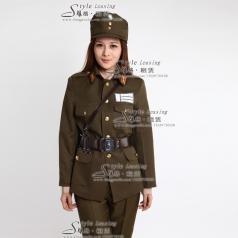 出租女士军队舞台演出服装 租赁表演服装