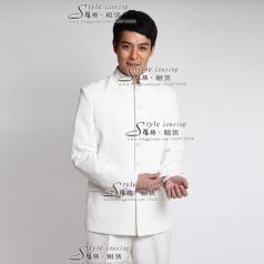 出租男士白色表演服装 租赁舞台演出服装