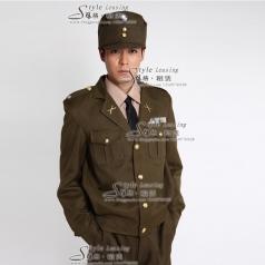 出租男士军队服装影视制服 租赁舞台演出服装