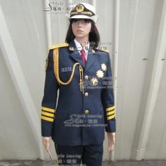 女士仪仗队表演服装  军队礼服演出服