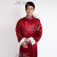立领男士古代唐装 长款中国风唐装大褂