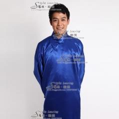 男士中国风唐装大褂 民族舞台演出服装