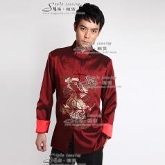 男士立领衬衫中国风唐装大褂 演出服装