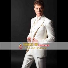 新款白色西服套装 男士礼服演出服装