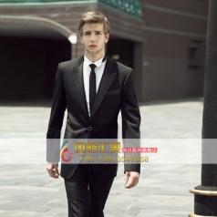 黑色礼服套装演出服装  宴会西服套装