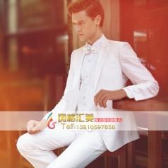 白色礼服西服套装 舞台演出服装