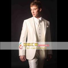 白色男士礼服套装  主持人服装演出服装