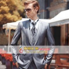 2014新款主持人演出服装  男士礼服套装