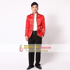 红色男士欧洲宫廷演出服装 表演服装