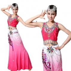 出售风格汇美傣族民族服装 演出服装 女士傣族舞蹈服装舞台装