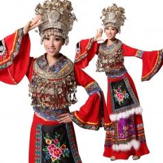 苗族服装演出服 少数民族舞蹈演出服