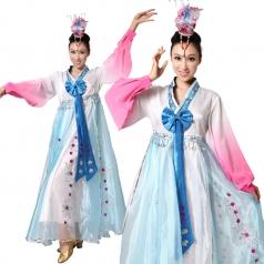 风格汇美女士民族舞台演出服装 民族舞蹈服装 民族服装可订制