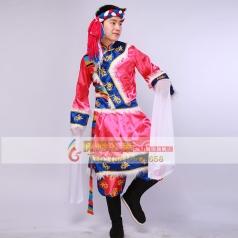 新款男士藏族舞蹈演出服饰藏族服装男装藏族舞台表演服装