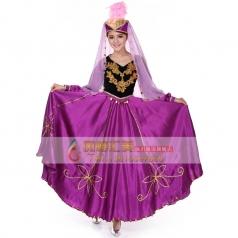 新疆舞服装女演出服预售 新疆舞蹈服装新款 新疆民族舞台服装