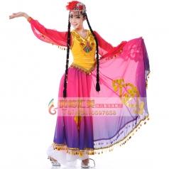 西域风情舞蹈演出民族服装女新疆维族舞蹈服新疆舞蹈演出服装女装租赁