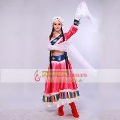 出租藏族服装少数民族舞蹈演出服水袖女装藏族舞台服秧歌服装新款