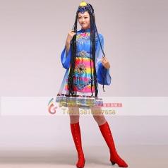 新款藏族水袖舞蹈演出服装表演少数民族舞台演出服女出租