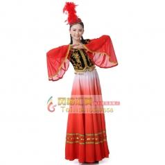 新款新疆舞蹈服装演出服/女装/舞台装民族服装/新疆舞蹈服装女装