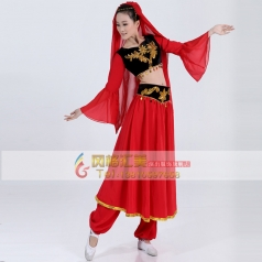 款特价新疆印度舞蹈演出服装 民族舞台表演服 女装 肚皮舞服饰