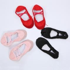 猫爪舞蹈布鞋黑色红色粉色