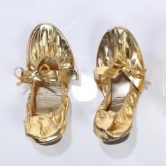 金色肚皮舞蹈鞋定做  舞台舞蹈鞋