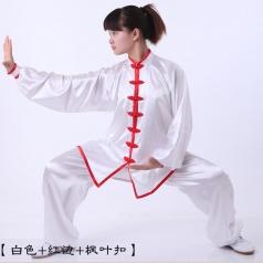 男女太极服太极拳服装 武术比赛表演服装 弹力丝晨练服租赁