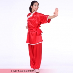 秋季棉加丝太极服男女款武术表演练功服太极拳武术比赛服装出租