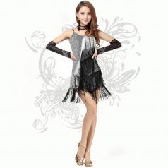 新款 性感爵士舞服装 女舞台装 现代舞 表演服 流苏歌手演出服租赁