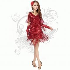 2014新款夜店流苏亮片裙 年会舞台装 表演装 演出服 洋装连衣裙租赁