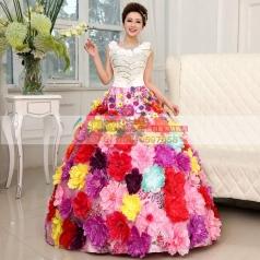 花朵蓬蓬裙