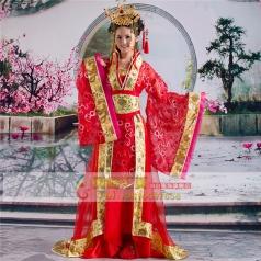 风格汇美古装唐朝服装定制女士古装汉服定做演出服饰舞台表演服定做
