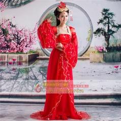 风格汇美女士古装唐朝服装定制演出服饰舞台服定做
