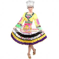 风格汇美新款苗族舞蹈服装女 苗族舞蹈演出服 年会演出民族舞蹈服