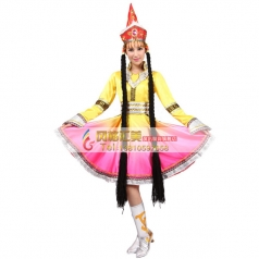 风格汇美新款蒙古舞蹈演出服女 少数民族舞蹈服装蒙古族舞蹈服装