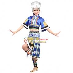 风格汇美苗族舞蹈演出服 苗族节日盛装女 苗族民族大摆裙舞蹈裙装