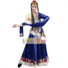 风格汇美藏族舞蹈演出服装藏族舞蹈服装女水袖少数民族演出服