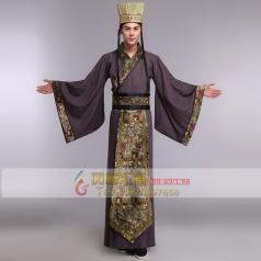 风格汇美古装服装汉服男 汉朝皇帝演出服装 汉服改良古代演出服