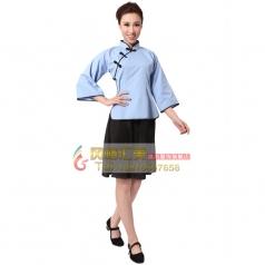 北京特价出租蓝色五四青年学生女装 年代舞台演出服 可定制