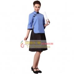 北京特价蓝色五四青年学生女装 年代舞台演出服 可定制