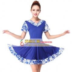 风格汇美广场舞舞蹈裙定制 舞台服装舞蹈服饰