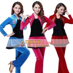 风格汇美演出服广场舞套装 舞台服装演出服饰