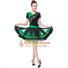 风格汇美广场舞裙定制套装 舞台服装演出服饰