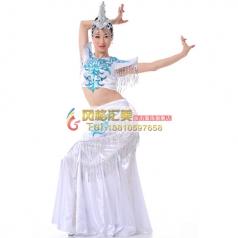 傣族舞蹈服装演出服 民族舞蹈演出服定做