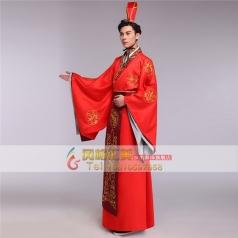 风格汇美新款男士汉朝演出服装美人心计喜服中式新郎古代服装男