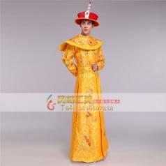 风格汇美清朝太子服装 年会皇帝演出服龙袍影楼写真清代皇上服装