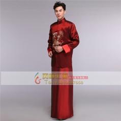 风格汇美中式秀禾服装男士结婚晚礼服古代服装新郎龙凤褂男古装