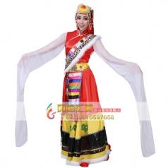 风格汇美 藏族演出服装 甩袖藏族舞蹈服装 舞台演出服装
