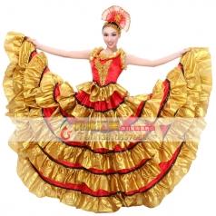 风格汇美 西班牙斗牛舞蹈表演服 开场舞大摆裙 现代舞演出服
